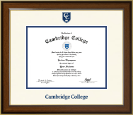 Cambridge College Dimensions Diploma Frame in Westwood