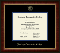 """Hawkeye Community College 8""""x10"""" - Gold Embossed Diploma Frame in Murano"""