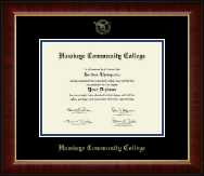 """Hawkeye Community College 8.5""""x11"""" - Gold Embossed Diploma Frame in Murano"""