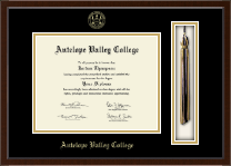 Antelope Valley College Tassel Edition Diploma Frame in Delta