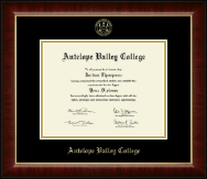 Antelope Valley College Gold Embossed Diploma Frame in Murano