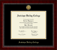 Antelope Valley College Gold Engraved Medallion Diploma Frame in Sutton