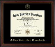 Indiana University of Pennsylvania Gold Embossed Diploma Frame in Studio Gold