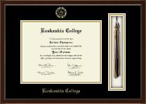 Kaskaskia College Tassel Edition Diploma Frame in Delta