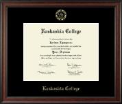 Kaskaskia College Gold Embossed Diploma Frame in Studio