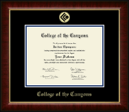 College of the Canyons Gold Embossed Diploma Frame in Murano