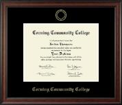 Gold Embossed Diploma Frame in Studio