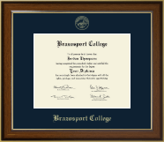 Brazosport College Gold Embossed Diploma Frame in Westwood